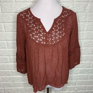 Willow & Clay Popover Style Boho Blouse